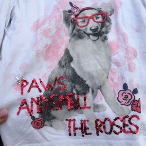 Paws and Smell the Roses long sleeve shirt